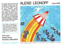 """S S A/Buvard  Sécurité Sobriété Info Alcolisme """"Alexei LEONOFF"""" (Frt 20 X 14) (N= 2) - Buvards, Protège-cahiers Illustrés"""