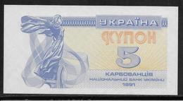 Ukraine - 5 Karbovantsiv - Pick N°83 - NEUF - Ukraine