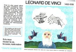 """S S A/Buvard  Sécurité Sobriété Info Alcolisme """"Léonard De VINCI"""" (Frt 20 X 14) (N= 3) - S"""