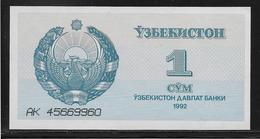 Ouzbékistan - 1 Sum - Pick N°61 - NEUF - Ouzbékistan