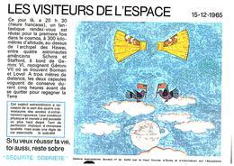 """S S A/Buvard  Sécurité Sobriété Info Alcolisme """"Visiteurs De L'ESPACE"""" (Frt 20 X 14) (N=5) - Blotters"""