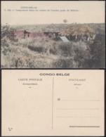 Congo Belge 1910 - Carte Postale Nr. 144.   Campement Dans Les Ruines De L'ancien Poste De Mifucho. Ref. (DD)  DC0273 - Congo Belge - Autres