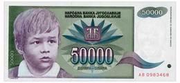 YUGOSLAVIA 50000 DINARA 1992 Pick 117 Unc - Yugoslavia