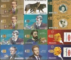 France. 212 Cartes Toutes Scannées Recto/verso (env. 10 C. Pièce) + Classeur Et 19 étrangères Offertes, Voir Description - Télécartes