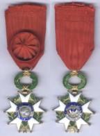 Médaille D'Officier De L'Ordre De La Légion D'Honneur - Ve République ( éclats D'émail ) - Francia