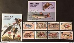 Tanzania 1990** Mi.634-41,bl.107,108 Animals MNH [20;139] - Timbres