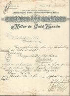 Hongrie - Kassa/Kaschau - Entête De 1895 Adler és Gold Kassin - Csasz és Kir.kizarolag Szabadalmazott. - Factures & Documents Commerciaux