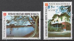 SMOM 1988 Sas# 284-85** UEBI SCEBELI RIVER, HOUSE OF LUIGI DI SAVOIA IN JOWHAR (SOMALIA) - Malte (Ordre De)