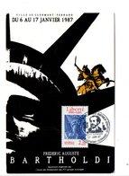 OBLITERATION EXPO BARTHOLDI à CLERMONT FERRAND 1987 - Bolli Commemorativi