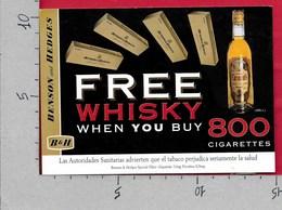CARTOLINA NV ITALIA - PUBBLICITARIA - Benson And Hedges - Grant's - Free Whisky - 10 X 15 - Pubblicitari