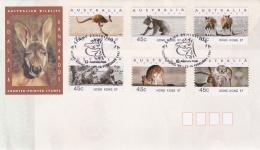ATM On Cover: Australia 1997 Mi. 40.1-45.1 Hong Kong 97  (LAR5-22**NB) - Vignettes ATM - Frama