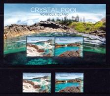 Norfolk Island 2018 Crystal Pool Set + Minisheet Used - Norfolk Island