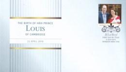 Australia 2018 Birth Of HRH Prince Louis Of Cambridge FDC - FDC