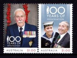 Australia 2018 Repatriation - 100 Years Set Of 2 MNH - 2010-... Elizabeth II