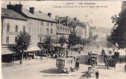 1203 - Cpa 15 Aurillac - Panorama De L'avenue De La Gare Et Départ Des Autobus - Aurillac