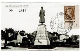 """N° 681 ( Coin Daté 11/4/46 ) Seul Sur Carte Commémorative Des """"AMITIIES ARDENNAISES FRANCE BELGIQUE LUXEMBOURG"""" - Marcophilie (Lettres)"""