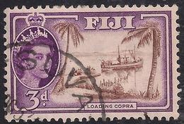Fiji 1956 QE2 3d Loading Copra SG 285 ( J1235 ) - Fiji (...-1970)