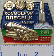 489-2 Space Russian Pin.  Plesetsk Cosmodrome 60 Anniversary. Booster Angara - Espacio