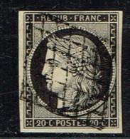 B9- N° 3a Noir Sur Blanc. Sans Défaut - 1849-1850 Cérès