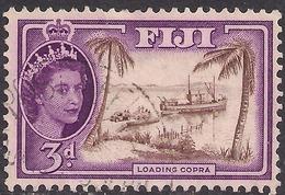 Fiji 1956 QE2 3d Loading Copra SG 285 ( J1218 ) - Fiji (...-1970)