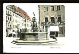 """NURNBERG - Tugenbrunnen - Plan Animé Avec Le """"""""""""""""JOCKEY-CLUB"""""""""""""""" - CP Très Ancienne, Vers 1900, Dos Non Divisé - Nuernberg"""