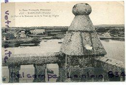 - 539 - BARFLEUR - ( Manche ) - Le Port Et La Bretonne, Vu De La Tour, écrite, Cliché Peu Courant, TBE, Scans.. - Barfleur
