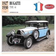Fiche Editions Atlas Automobile Voitures De Luxe Bugatti Type 44 - Voitures