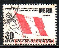 PEROU. PA 88 Oblitéré De 1951. 75 Ans De L'UPU/Drapeau. - U.P.U.