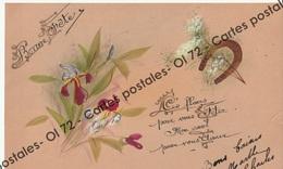 CPA - Fêtes - Voeux > Bonne Fête - Bouquet Et Fer à Cheval - Peint à La Main ? - Holidays & Celebrations