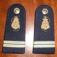 Spalline Capo Di 1^ Classe Infermiere - Sanitario - Marina Militare - Usate - Italian Navy Shoulder Boards - CPO Medical - Navy