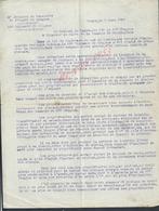 MILITARIA LETTRE COLONEL DE BAZELAIRE VENTE DE CHEVAUX MEAUX 1920 MILITAIRE 5e DIVISION DE CAVALLERIE 23e Rg DE DRAGONS - Documents