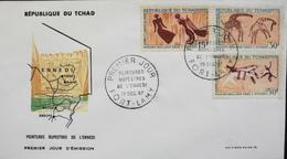 TCHAD - 1er JOUR 1967 - Peintures Rupestres De L'ENNEDI - Daté : Fort-Lamy 19.12.1967 - TBE - Tchad (1960-...)