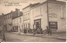 9579. CPA BRANNE 33 GRANDE ROUTE DE BORDEAUX. EPICERIE PARISIENNE D. MOUTY PROPRIETAIRE - France