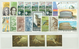 San Marino 1985 Annata Completa/Complete Year MNH/** - San Marino