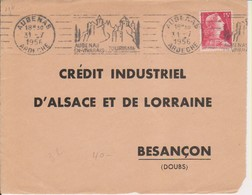 1956 France 07 Ardèche Aubenas Flamme 'Aubenas En Vivarais Tourisme' (Date On 3 Lines) - Postmark Collection (Covers)