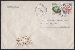 AI101   Storia Postale 1985  Racc. Da Cantinella (CS), Castelli £.1400 + Castelli £.550 - 1981-90: Storia Postale