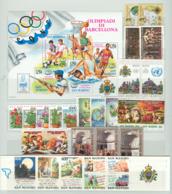 San Marino 1992 Annata Completa/Complete Year MNH/** - San Marino