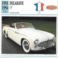 Fiche Editions Atlas Automobile Voitures De Sport Delahaye 235 - Voitures