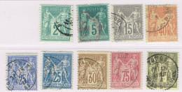 B11-la Série Dont N°80  Sans Défaut  Cote 180 Euros - 1876-1898 Sage (Type II)
