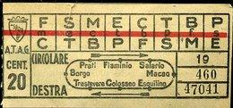 TR1 ROMA ATAG CIRCOLARE DESTRA  ANTECEDENTE AL 1944 - Europe