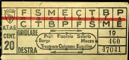 TR1 ROMA ATAG CIRCOLARE DESTRA  ANTECEDENTE AL 1944 - Tramways