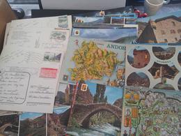 Cp - ANDORRE - Lot De 161 Cartes CPSM CPM - écrites Et Non écrites (20 Avec Timbre Andorran) - Andorre