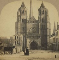 Stéréo 1860-70 Furne & Tournier . Bourgogne . N°13 . Dijon . L'Eglise Saint-Bénigne . - Stereoscopio