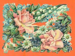 """GRAND CHROMO DECOUPIS  """" Fleurs """" - Flowers"""