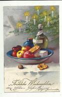 C. Klein * Catharina Klein * HWB Ser. 3908? * Weihnachten *1930 * Äpfel, Pfefferkuchen, Wein, Kerzen - Klein, Catharina