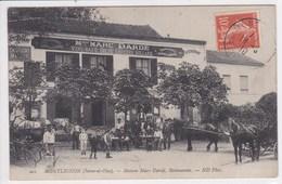 95 MONTLIGNON Maison Marc Dardé , Restaurant ,façade Avec Terrasse ,attelage Chevaux Avec Charette - Montlignon