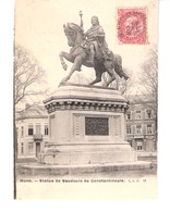 Mons (Hainaut)-+/-1900- Statue De Baudoin De Constantinople-Edit.L.L.B. -Précurseur - Mons
