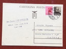 INTERO POSTALE  REPUBBLICA SOCIALE MAZZINI 30 C. + 20 C. DA RAPALLO  (avv.Luigi Boccoleri) A GENOVA IN DATA 8/11/44 - 4. 1944-45 Repubblica Sociale