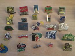 A Prix Cassé !!! LOT19-008 De 25 Pin's En Très Bon état , Tous Différents , Avec Leurs Attaches - Loten