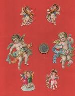 Lot De 6 Jolis Découpis, Anges, Angelots, Cupids - Angeles